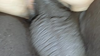 Black stranger gives black cock to my wife