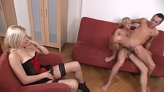 Blonde decides to join bisexual guys