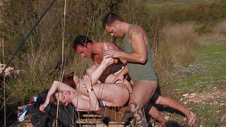 Two hot couples are having an amazing foursome