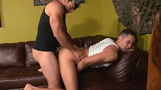 Horny guys suck and fuck each other's cocks