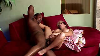 Cheating mature wife takes care of big black cock