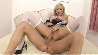 Naughty maid is getting pumped really hard to get fucked