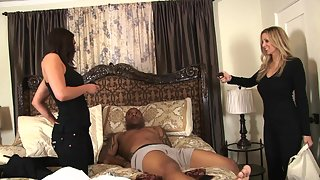 Charley Chase forces a black guy to have sex