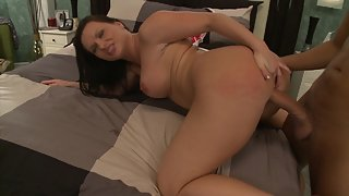 Horny big ass brunette enjoys anal sex