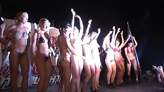 Sizzling Ladies Enjoying Competition For Next Naked Model