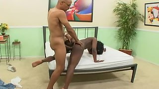 Ebony on Knee Sucked Black Dick and Fucked Hard Until Satisfaction