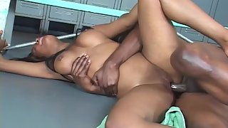 Ebony with Her Black Friend Merged in Black Sex to Get Unlimited Passion