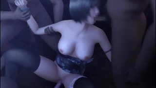 Huge Boobs Anime One by One Sucking Massive Dicks before Sex