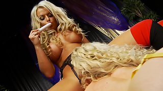 Two blonde bombshells have some amazing sex