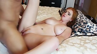 Naughty Naked Girl after Sucking Cock Fucked Hard by Dude for Longtime
