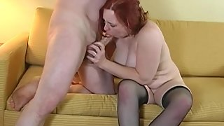 Chubby Sucking Cock and Making That Hard for Penetration