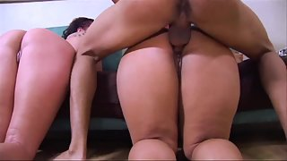 Bubble Ass Sluts One after One Fucked Hard by Two Naughty Dudes