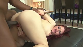Black Dude after Blowjob Fucking Beautiful Lady in Many Ways