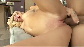 Sexy Blonde Got Naked and Engaged in Hardcore Sex with Boyfriend